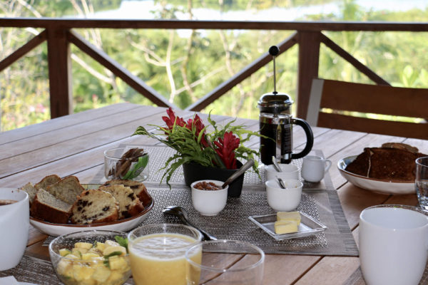 Petit déjeuner continental - Eden jungle lodge - Bocas del Toro - Panama