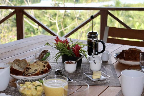 Petit déjeuner continental - Eden jungle lodge - Bocas del Toro - Panama